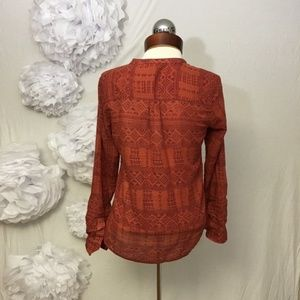 Lucky Brand Tops - Lucky Brand Jodi Peter Dunham Print Shirt S